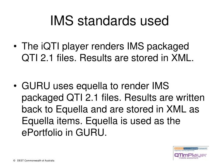 Ims standards used