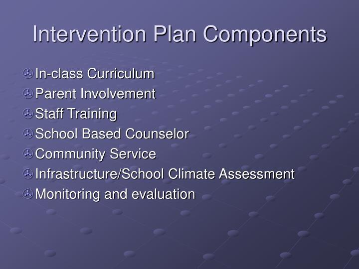 Intervention Plan Components