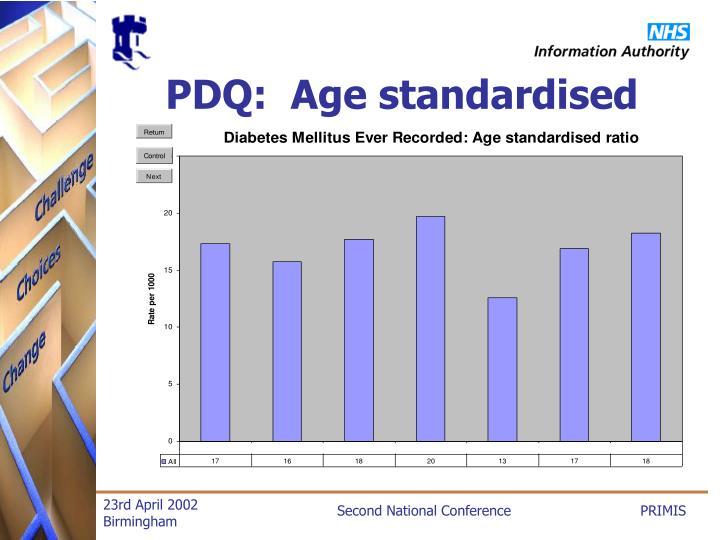 PDQ:  Age standardised