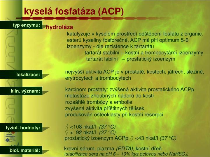 kyselá fosfatáza (ACP)