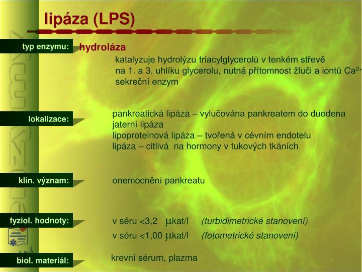 lipáza (LPS)