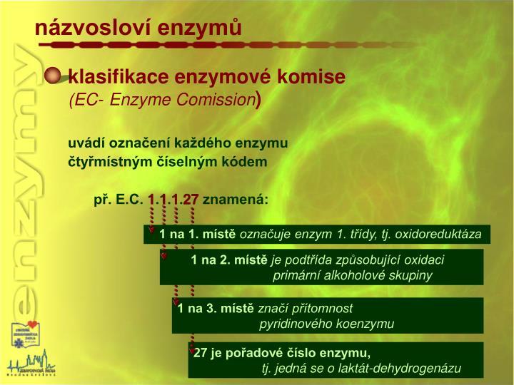 klasifikace enzymové komise