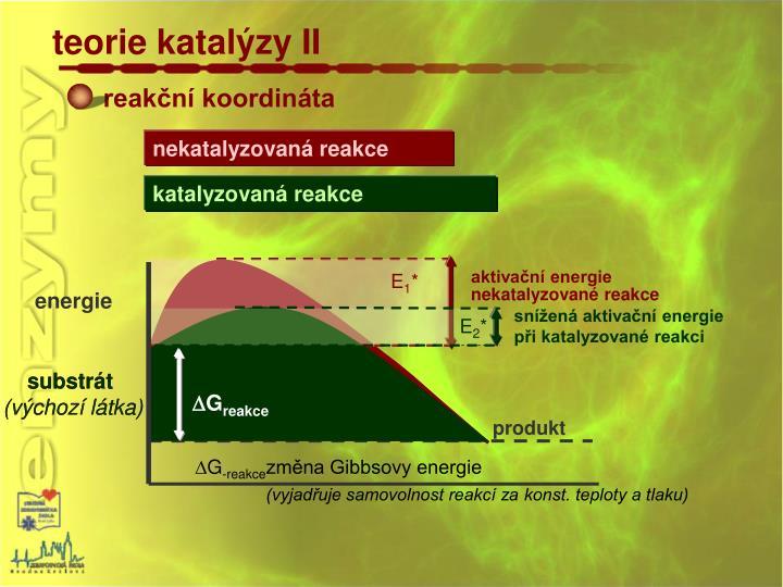 teorie katalýzy II