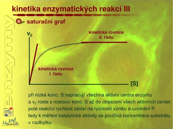 kinetika enzymatických reakcí III