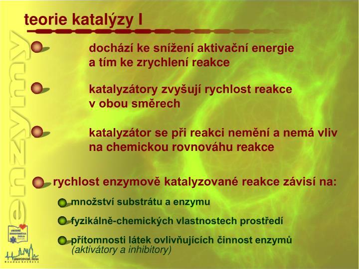 teorie katalýzy I