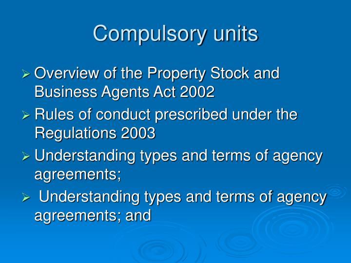 Compulsory units