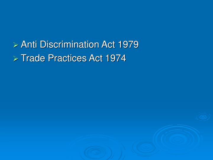 Anti Discrimination Act 1979