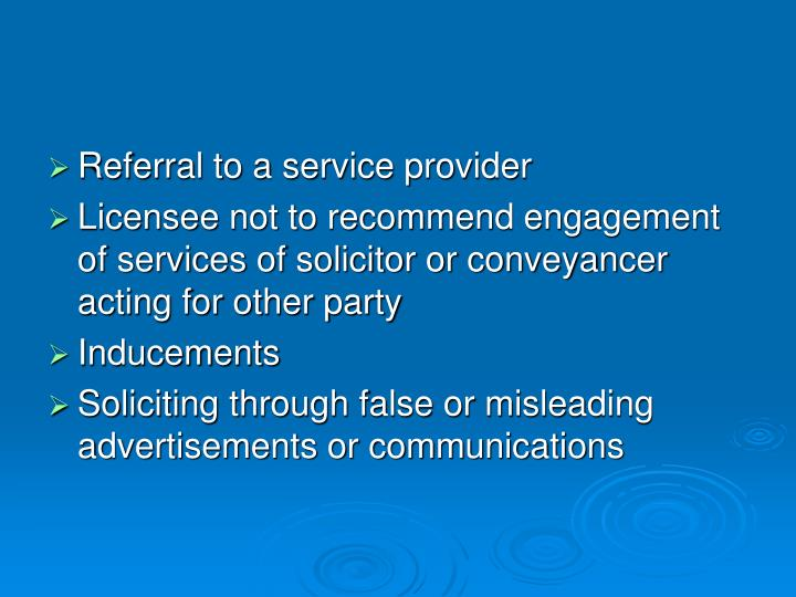 Referral to a service provider