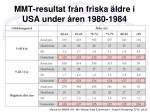 mmt resultat fr n friska ldre i usa under ren 1980 1984