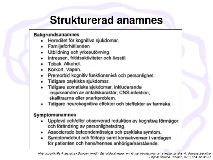 Strukturerad anamnes