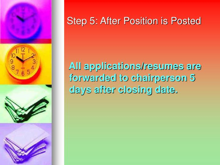 Step 5: After Position is Posted