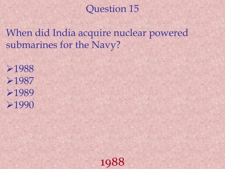 Question 15
