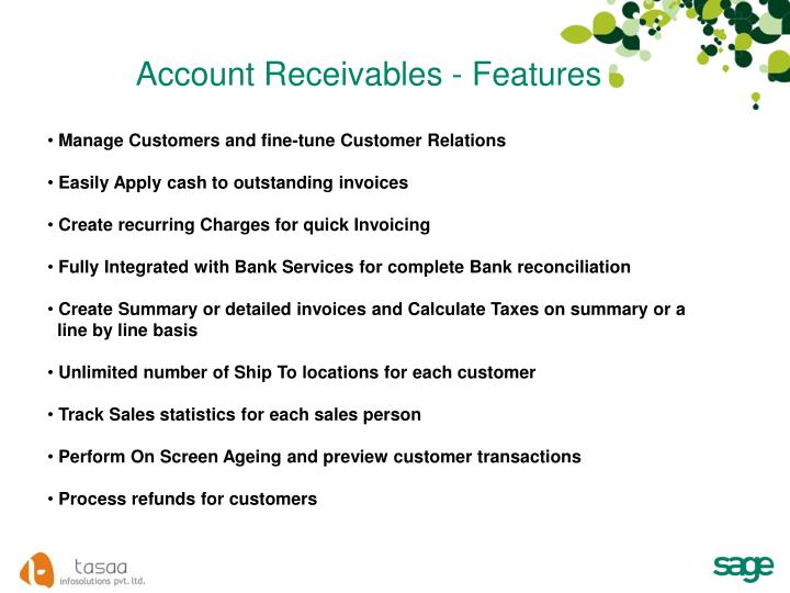 Account Receivables - Features