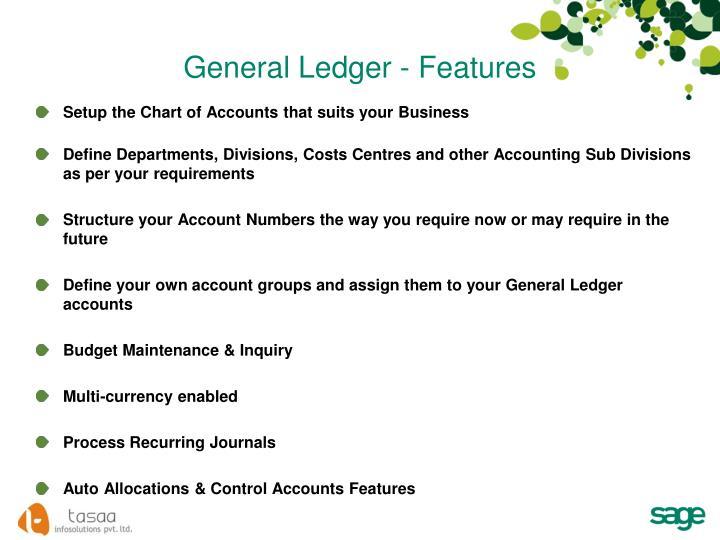 General Ledger - Features