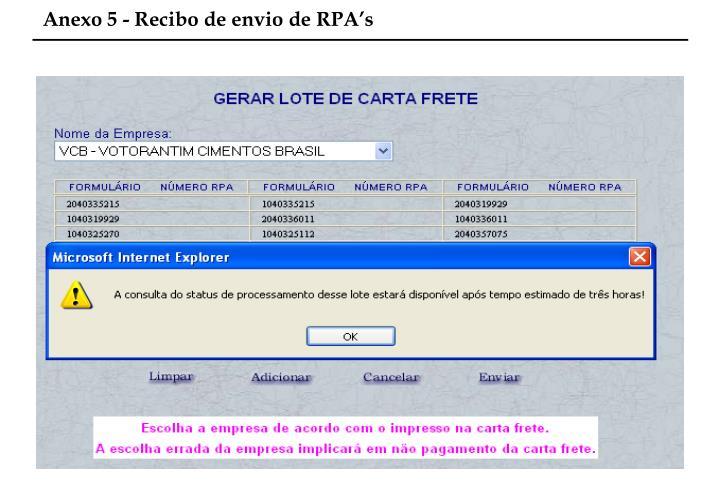 Anexo 5 - Recibo de envio de RPA's