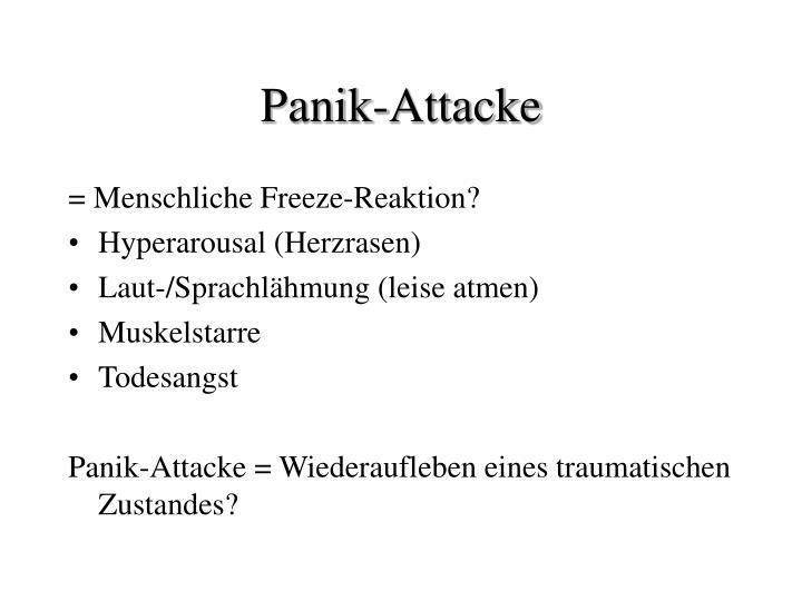 Panik-Attacke