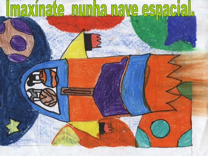 Imaxínate  nunha nave espacial.
