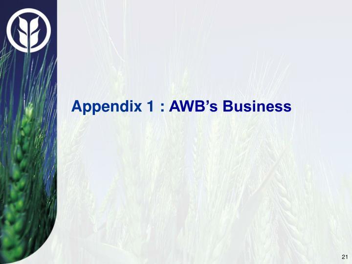 Appendix 1 :