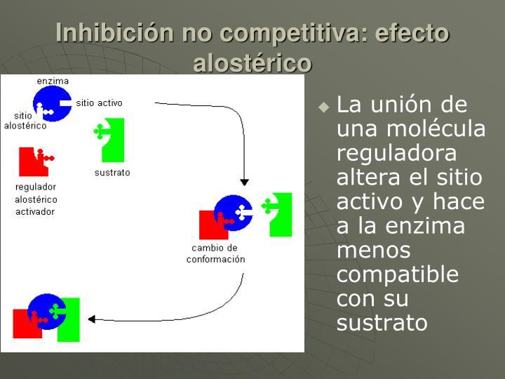 Inhibición no competitiva: efecto alostérico