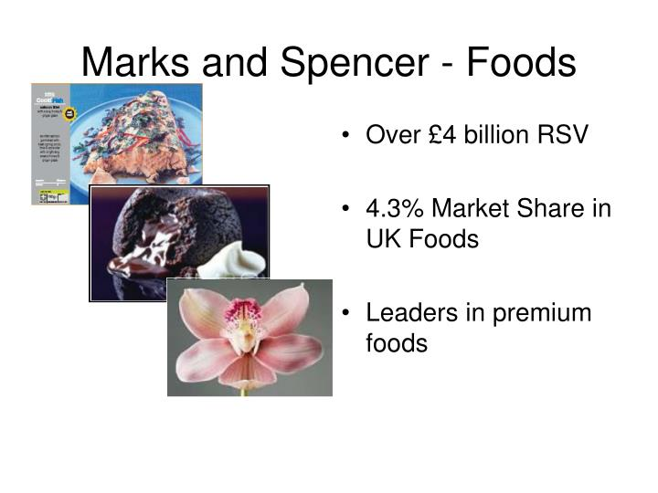 Marks and spencer foods