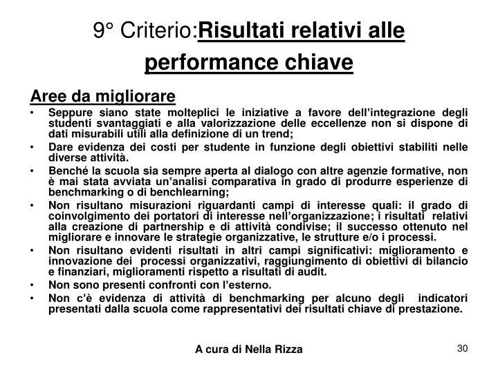 9° Criterio: