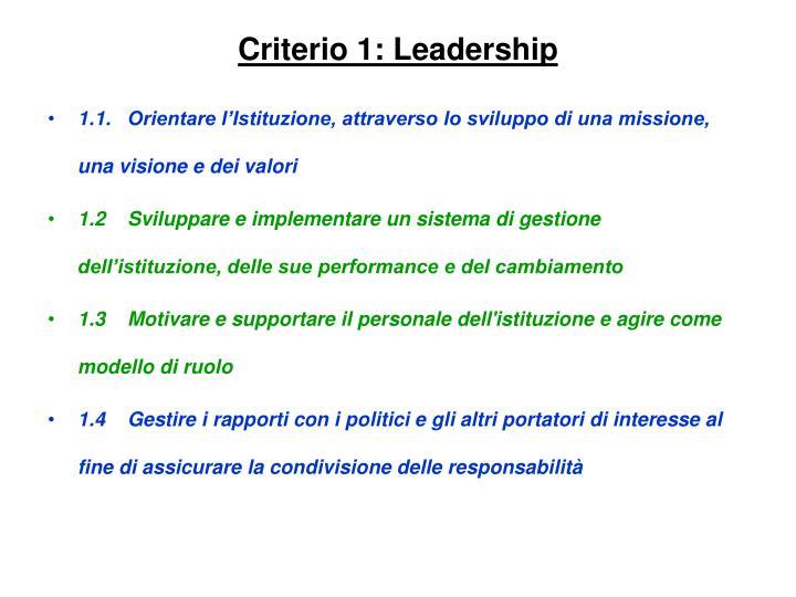 Criterio 1: Leadership