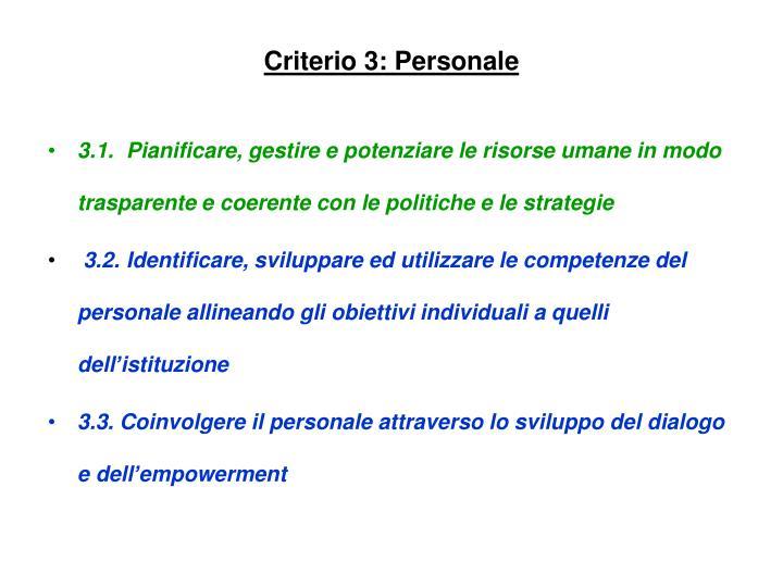 Criterio 3: Personale