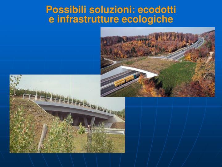 Possibili soluzioni: ecodotti