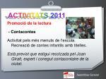 activitats 20112