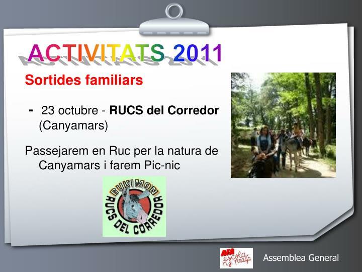 ACTIVITATS 2011