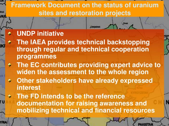 Framework Document on the status of uranium sites and restoration projects