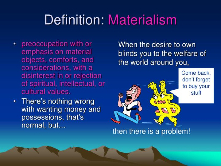 Definition materialism
