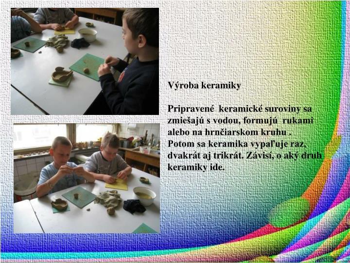 Výroba keramiky