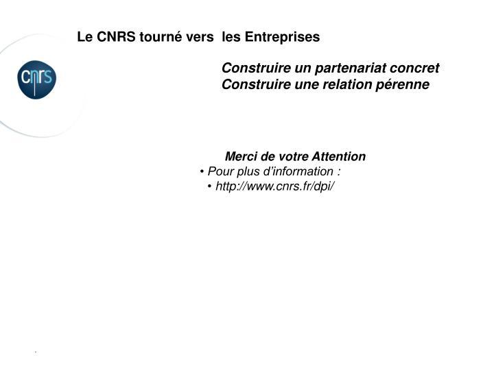 Le CNRS tourné vers