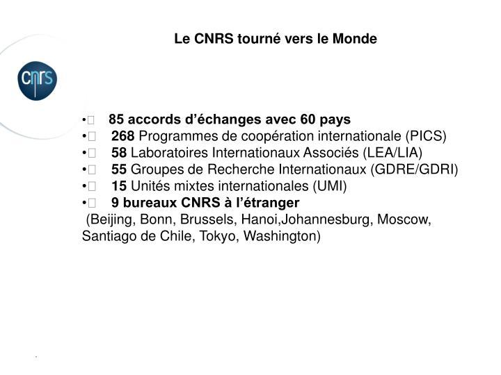 Le CNRS tourné vers le Monde