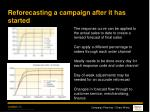 reforecasting a campaign after it has started