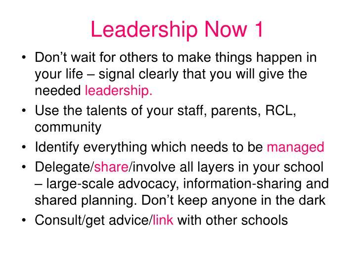 Leadership Now 1