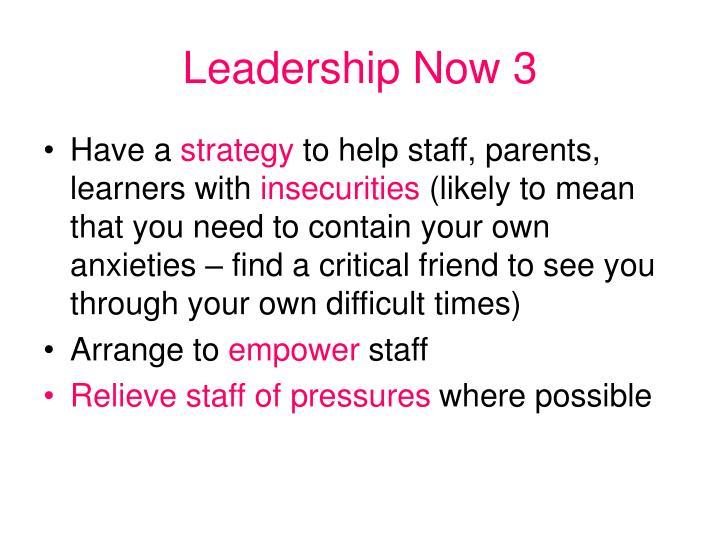 Leadership Now 3