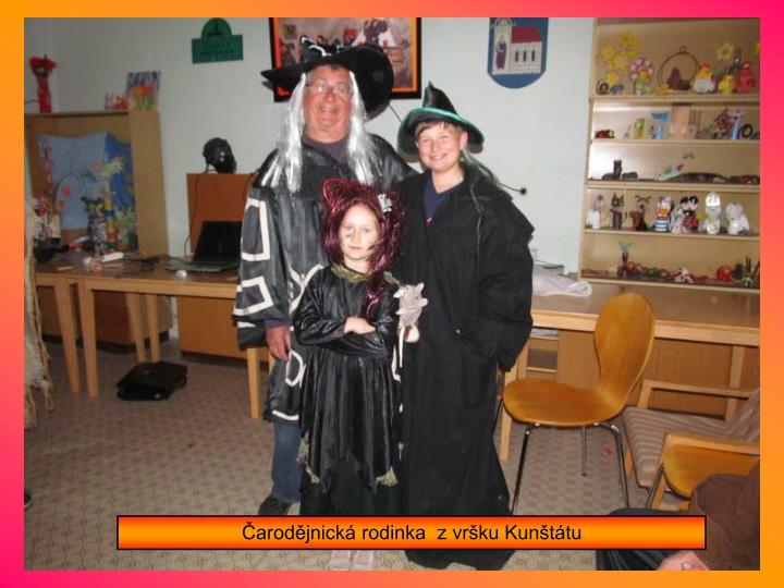 Čarodějnická rodinka  z vršku Kunštátu