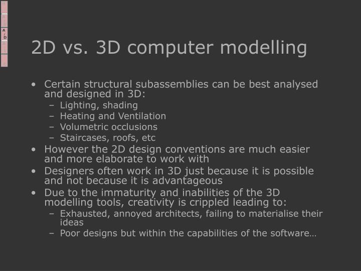 2D vs. 3D computer modelling