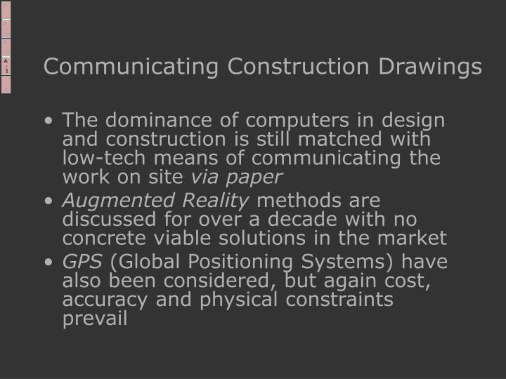Communicating Construction Drawings