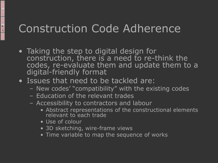 Construction Code Adherence