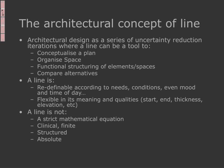 The architectural concept of line