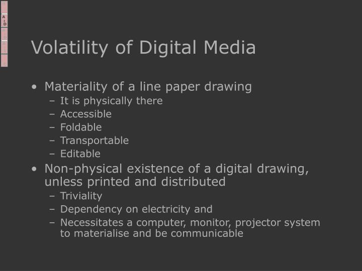 Volatility of Digital Media