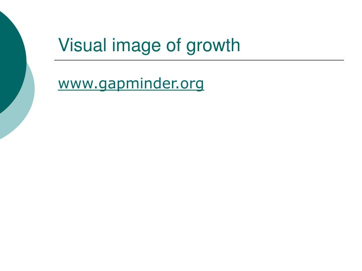 Visual image of growth