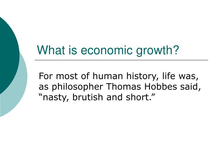 What is economic growth1