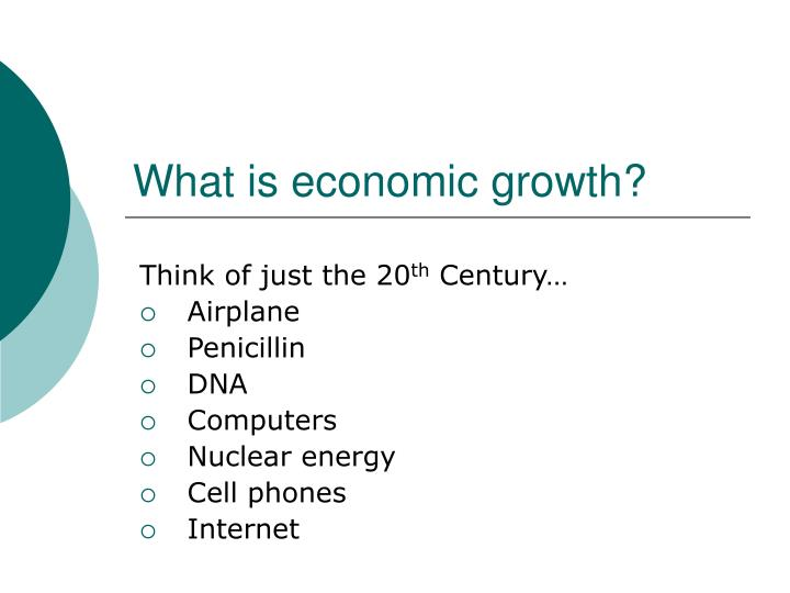 What is economic growth?