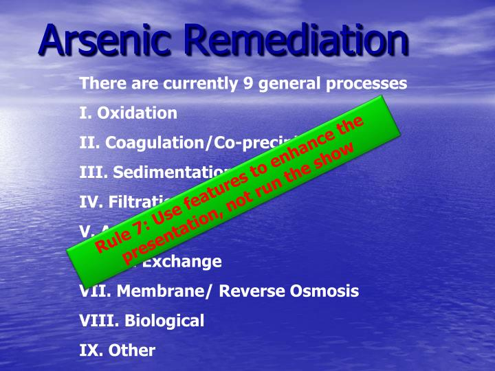 Arsenic Remediation