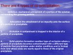 there are 4 types of co precipitation