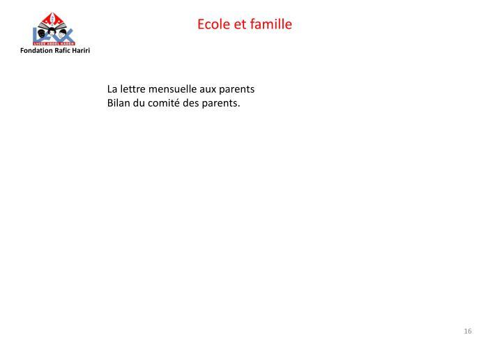 Ecole et famille